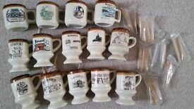 BUNDLE OF 14 SOUVENIR CUPS / TOOTHPICK HOLDERS OF USA STATES