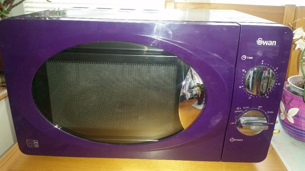 Swan Purple Microwave