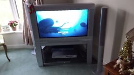 Philips 36in Matchline TV. Complete with Stand.
