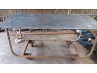 Lovley trolley galvanised top
