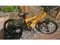 "Kids mountain bike full suspension suit 5 ish to 7""8 ish very good working order"