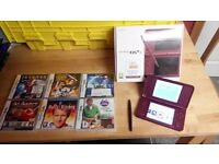 dsi xl boxed with 6 games