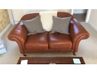 2 x Brown Leather Boutique Sofas