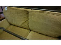 Marks & Spencer 2 Seat Sofa Settee Material Gold Colour