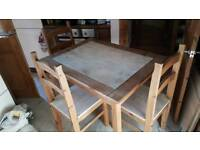 Dining table and 4 chairs shabby chic