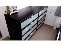 Ikea chest of drawers black/brown