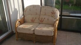 Wicker 2 seater conservatory sofa