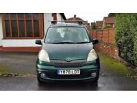 2001 TOYOTA YARIS VERSO 1.3 AUTOMATIC,71,000 MILES,SERVICE HISTORY,2FORMER KEEPERS,2 KEYS, HPI CLEAR