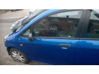 Honda Jazz Mk2 2002-2008 near side passenger side front door blue