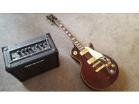 Electric Vintage Guitar with amp