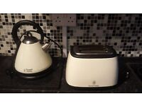 Russell Hobbs toaster and kettle - cream-