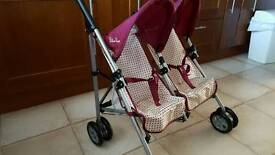 Silver Cross Toy Double Pushchair