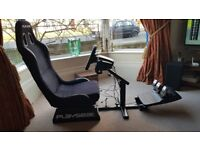 Playseat evolution Alcantra Xbox gaming driving racing chair Logitech G920 wheel pedals and shifter
