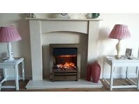 micro marble fire surround