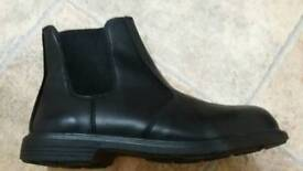 Leather safety boots new 11 mechanic building truck farm