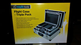 Brand New Metal Flight Storage Tool Carry Cases Set of 3 from Maplin