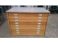 Vintage wooden Plan Chest **A1 size**