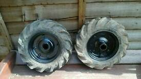 Merrytiller drive wheels