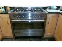 Smeg A2 dual fuel 100cm range cooker