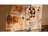Disney cakes and sweets magazines with all equipment never used pet and smoke free home