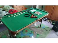 Kids snooker & pool table 4ft 6inch
