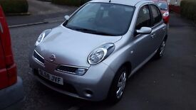 2008 58 reg NISSAN MICRA ACENTA 1.2 5DR 54k MILES 10 MTHS MOT B/TOOTH REDUCED TO SELL £2100
