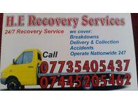 H.F Recovery service 24/7. Free scrap service.