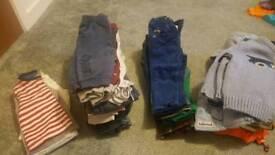 Bundle of boys clothing 9-12 months