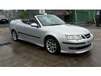 SAAB 9-3 AERO SPORT TURBO 210BHP, 55 REG COVERTIBLE, 3 MONTHS WARRANTY, FULL 12M MOT