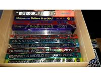 Guinness world record books and Ridleys believe it books