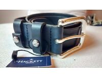 """Brand new genuine leather Hackett belts (34""""). Made in England."""