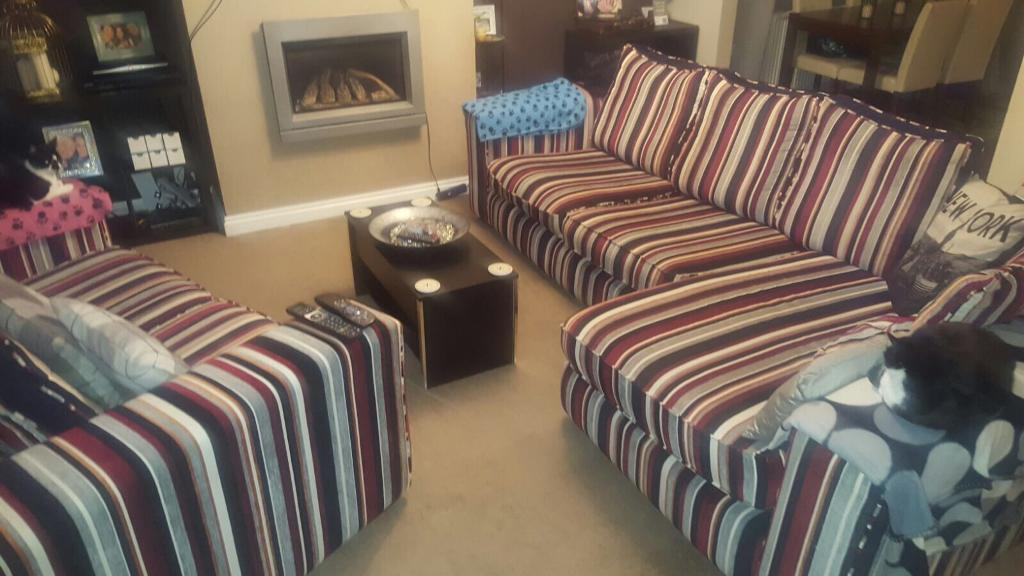 Large Corner sofa and two seater
