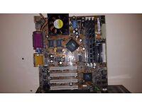 AMD K6-III 400 CPU & HSF, FIC socket 7 mobo, 3x 256MB PC133 SDRAM (768MB total)