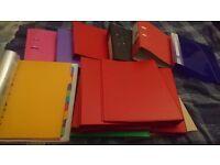 Ring binders, folders, dividers