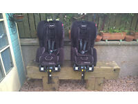 PAIR OF RECARO YOUNG EXPERT PLUS ISOFIX CHILDS CAR SEATS