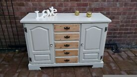 shabby chic pine dresser/sideboard with drawers