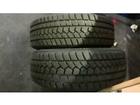 2x new winter tyres tyres 165/60 R14 8mm