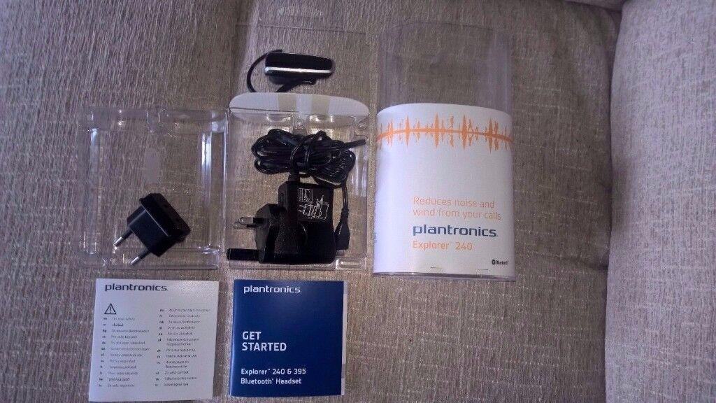 Plantronics Explorer 240 Black Ear-hook Headsets