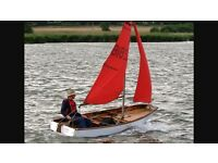 Mirror Sailing Dinghy Rigging and Sails and Spars and Foils