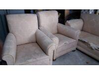 Antique drop arm sofa set