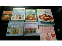 Mix of various cooking books as pictured