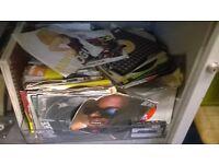 box full of single records