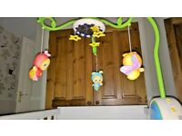 Glow worms (playskool ) music and lights cot mobile