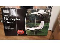 New Deluxe Helicopter Garden Lounger Decking Chair Dream Swing Seat -