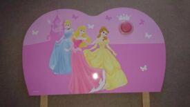 Disney Princess Pink Headboard