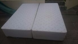 Super King size Divan bed base with two drawer storage and headboard