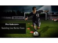 Footballs Latest Vanishing Spray used in Football for Training and Play x6 150ml Cans