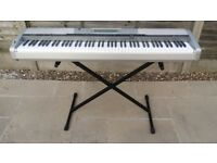 Casio Privia Piano Keyboard - 88 Weighted Keys in Silver