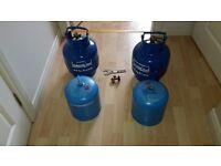 Gas bottles for sale.