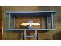 Next blue children's aeroplane shelf